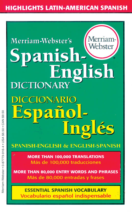 Merriam Webster Pocket Spanish Dictionary